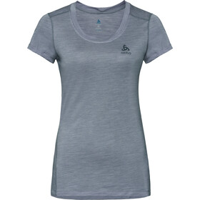 Odlo Natural + Light BL Kurzarm Rundhalsshirt Damen grey melange